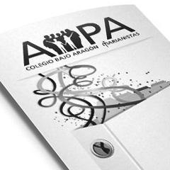 Logotipo y tríptico AMPA C.B.A.
